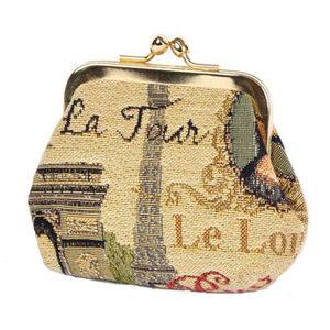 "Bourse en Tapisserie ""Elysees"" 10 x 8 cm-0"
