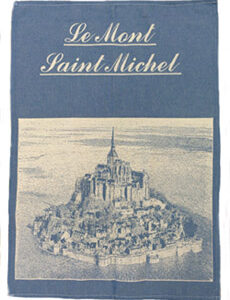 Torchon Mont Saint-Michel Bleu-0